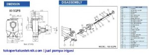 Dimensi & Sparepart Pompa Irigasi Ebara 80SQPB