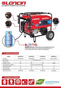 Katalog Genset Loncin LPG Fuel