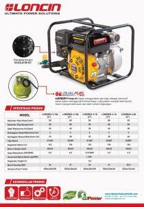 Katalog Pompa Loncin Dual fuel