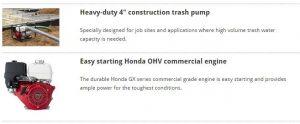 Keunggulan Pompa Honda seri WT